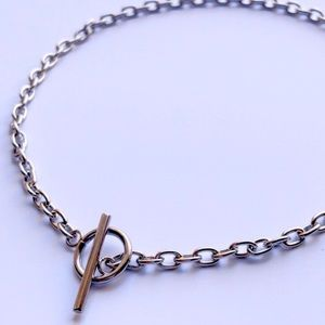 925 oval link chain toggle choker.